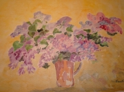 tableau fleurs lilas : lilas