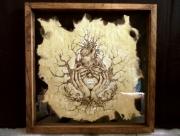 tableau autres pyrogravure reflexion papier amour : I love it so i am