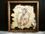 tableau autres pyrogravure meduse papier mythologie : Médusa