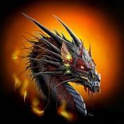 tableau animaux dragon feu imaginaire fantasy : The earth dragon
