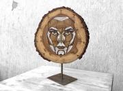 artisanat dart autres visage nombre d or rondin bois : Nombre d'Or