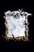 mixte animaux animaux miroir or antique : Miroir dinosaure