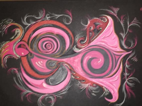 PAINTING Abstrait Peinture a l'huile  - Danseuse