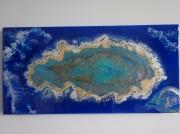 tableau abstrait regard evasion couleur lumiere : L'OEIL