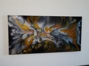 tableau animaux dragon unique cuivre : PAPILLON BLANC