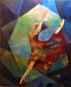 tableau sport danse etoile mouvement femme couleurs : danseuse