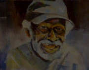 tableau personnages portrait regard casq expression regard : la casquette