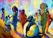 tableau personnages marche couleurs personnages gaite : MARCHE EN INDE