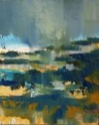 tableau paysages temps incertain gris nature : impression