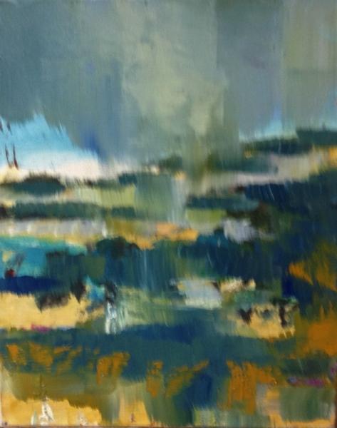 TABLEAU PEINTURE TEMPS INCERTAIN GRIS NATURE Paysages Peinture a l'huile  - impression
