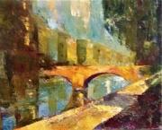 tableau paysages pont toulouse paysage couleurs : PONT