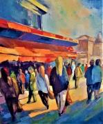 tableau villes toulouse ville rose : marché de Toulouse