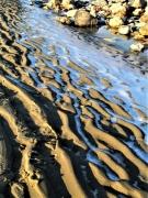 photo marine plage sable eau gel : Désert glacé
