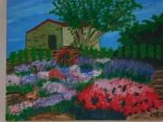 tableau paysages : Parterre fleuri