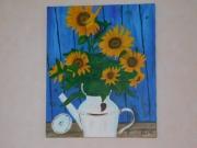 tableau fleurs : Les tournesols