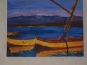 tableau marine : Les barques