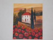 tableau paysages europe italie villa residence : La Villa