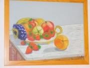 tableau fruits corbeille meuble interieur dessert : Plateau de fruits