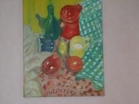 Mélange fruits et objects