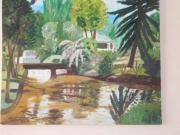 tableau paysages indonesie java parc : La cascade