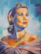 tableau personnages portrait grace kelly peinture grace kelly actrice grace kelly peinture de star : Grace Kelly