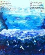 tableau abstrait mer art abstrait ,a : GRAND BLEU