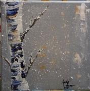 tableau paysages : Le bouleau bleu