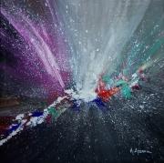 tableau abstrait : Nébuleuse