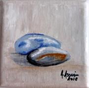tableau marine mer galet sable : Air de mer