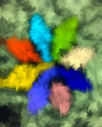 dessin fleurs fleur arcenciel printemps nature : Fleur arc-en-ciel
