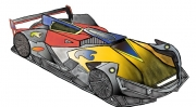 dessin autres voiture course futuriste ferrari : Bolide du futur