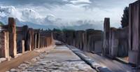 Une rue à Pompei