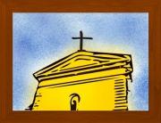 dessin architecture eglise dieu soleil architecture : Une église en or