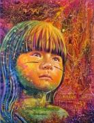 tableau personnages raoni amazonie indiens tribu : RAONI
