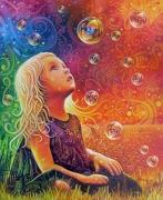 tableau personnages enfant nature environnement couleurs : INNOCENCE