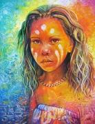 tableau personnages australie enfant couleurs portrait : Australia