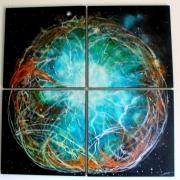tableau abstrait fantastique lumiere feerique univers : Crystalium