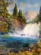 tableau paysages chute d eau cascade paysage nature : La sérénité de l'instant...