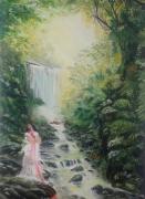 tableau paysages nature apparition fantome lumiere : L'empreinte du souvenir