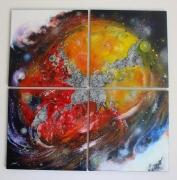 tableau abstrait fantastique univers lumiere feerique : Originel