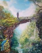 tableau paysages aventure paysage personnage lumiere : Le début de l'aventure...