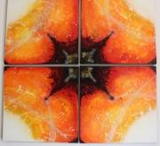 tableau abstrait fantastique texture lumiere feerique : Coeur sombre