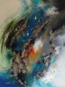 tableau abstrait espace cosmique etoile lumiere : Variations cosmique