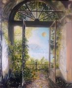 tableau paysages architecture fantastique lumiere contraste : Passage vers ailleurs