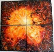 tableau abstrait feu soleil lumiere brulant : Souffle brûlant