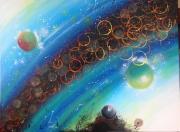 tableau abstrait couleurs degrades espace lumiere : Expansion