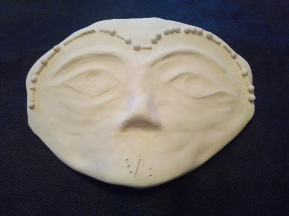CéRAMIQUE, VERRE masque ego vérité authenticité Personnages  - Qui se cache derrière ce masque ?