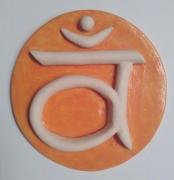 ceramique verre abstrait chakra sacre spiritualite modelage : 2ième chakra = chakra SACRE