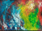 tableau abstrait oiseau ocean abstrait stage : L'oiseau sorti de l'Océan