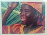 """tableau personnages africaine femme tete chaleur : """"Ma Noire"""""""